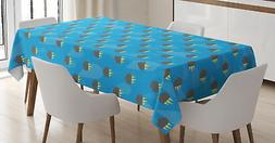 Thunder Tablecloth Ambesonne 3 Sizes Rectangular Table Cover