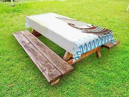 Toga Party Outdoor Picnic Tablecloth Ambesonne in 3 Sizes Wa