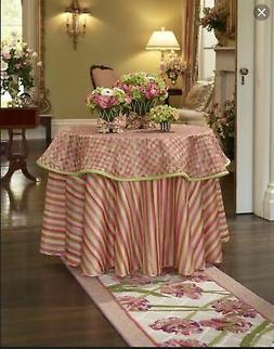 Mackenzie-Childs Tulip Check Table Topper ~ NEW ~ #42403-110