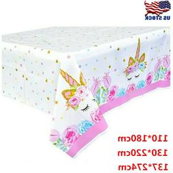Unicorn Plastic Tablecloth Disposable Table Cover For Birthd