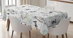 Unicorn Tablecloth Ambesonne 3 Sizes Rectangular Table Cover