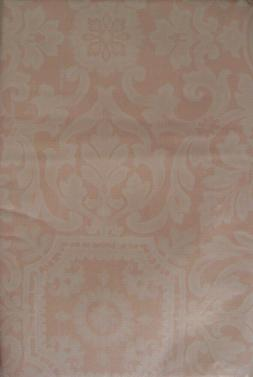 VARIOUS SIZES DAMASK VINYL / FLANNEL BACKED TABLECLOTHS PALE
