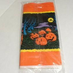 Vintage Halloween Paper Table Cover Table Cloth 54 x96 Inch
