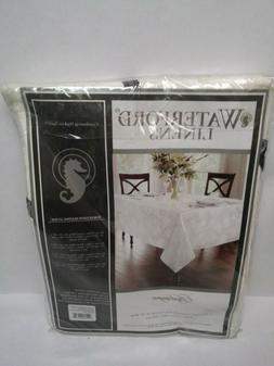 """Waterford Fine Linens Hydrangea Tablecloth 70"""" x 84""""  Oblong"""