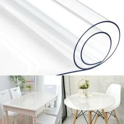 Waterproof Clear Plastic PVC Tablecloth Transparent Protecto