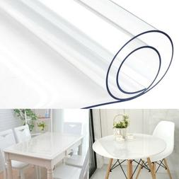 Waterproof PVC Clear Table Cover Tablecloth Transparent Desk