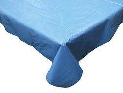 Waterproof Spill Proof Vinyl Solid Tablecloth with Flannel B