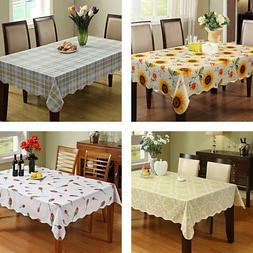 Waterproof Vinyl Flannel Backed Tablecloth Floral Flowers fo