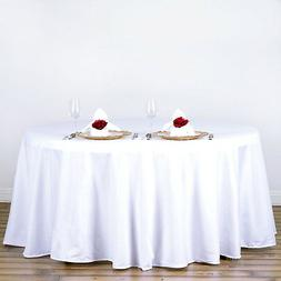 5 Pack WHITE 120 Inch ROUND TABLECLOTHS Wedding Decorations