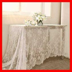 White Lace Tablecloth Kitchen Tablecloths For Rectangle Tabl