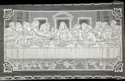 """White Lace Tablecloth The Lords Supper 60"""" x 108"""" Dining Roo"""