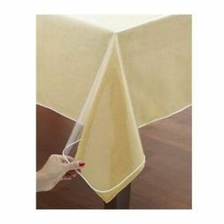 Window Clear Vinyl Tablecloth Protector Heavy Oblong Plastic