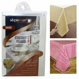 Window Clear Vinyl Tablecloth Protector Heavy Square Plastic