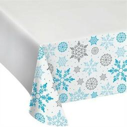 Winter Snowflake Plastic Banquet Tablecloth Winter Christmas